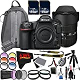 6Ave Nikon D850 DSLR Camera (Body Only) 1585 International Model + Sigma 12-24mm f/4.5-5.6 DG HSM II Lens (For Nikon) + Nikon EN-EL15a Rechargeable Lithium-Ion Battery Bundle