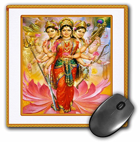 3drose-llc-8-x-8-x-025-inches-mouse-pad-hindu-divine-mother-lakshmi-with-ornate-frame-mp-80274-1