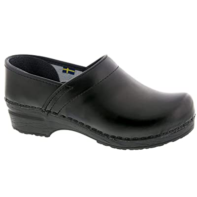 Bjork Professional ELI Men's Black Leather Clogs | Mules & Clogs