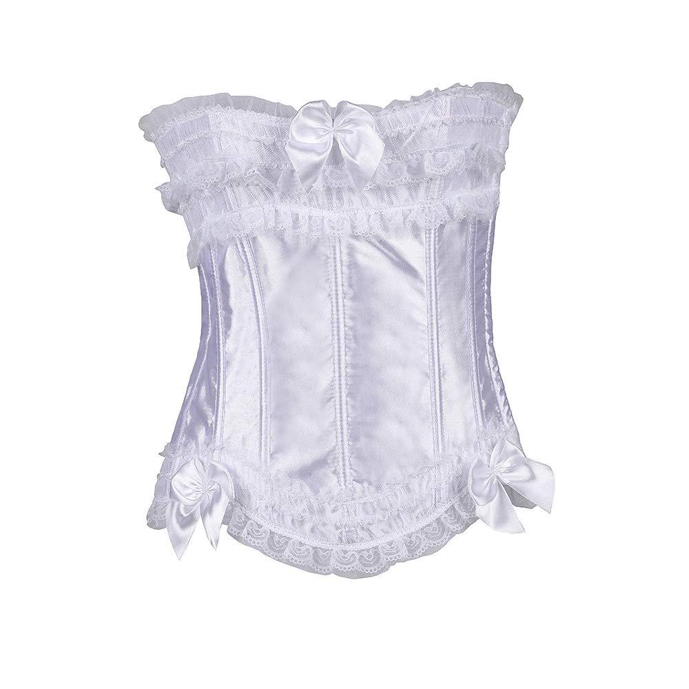 Corsé corsé erótica sexy corsé discoteca erótica corsé lencería,White,XL 301d15