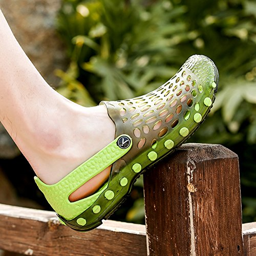 Lijeer Jelly Wasser Schuhe Männer Frauen Garten Schuhe Comfort Walking Pool Dusche Saltwalter Sandalen Hausschuhe Weiß Grün
