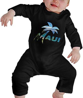 UGFGF-S3 Maui Hawaiian Baby Boy Girl Long Sleeve Romper Jumpsuit Organic Coverall