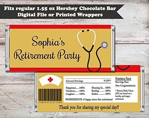 amazon com nursing retirement party personalized candy bar wrapper