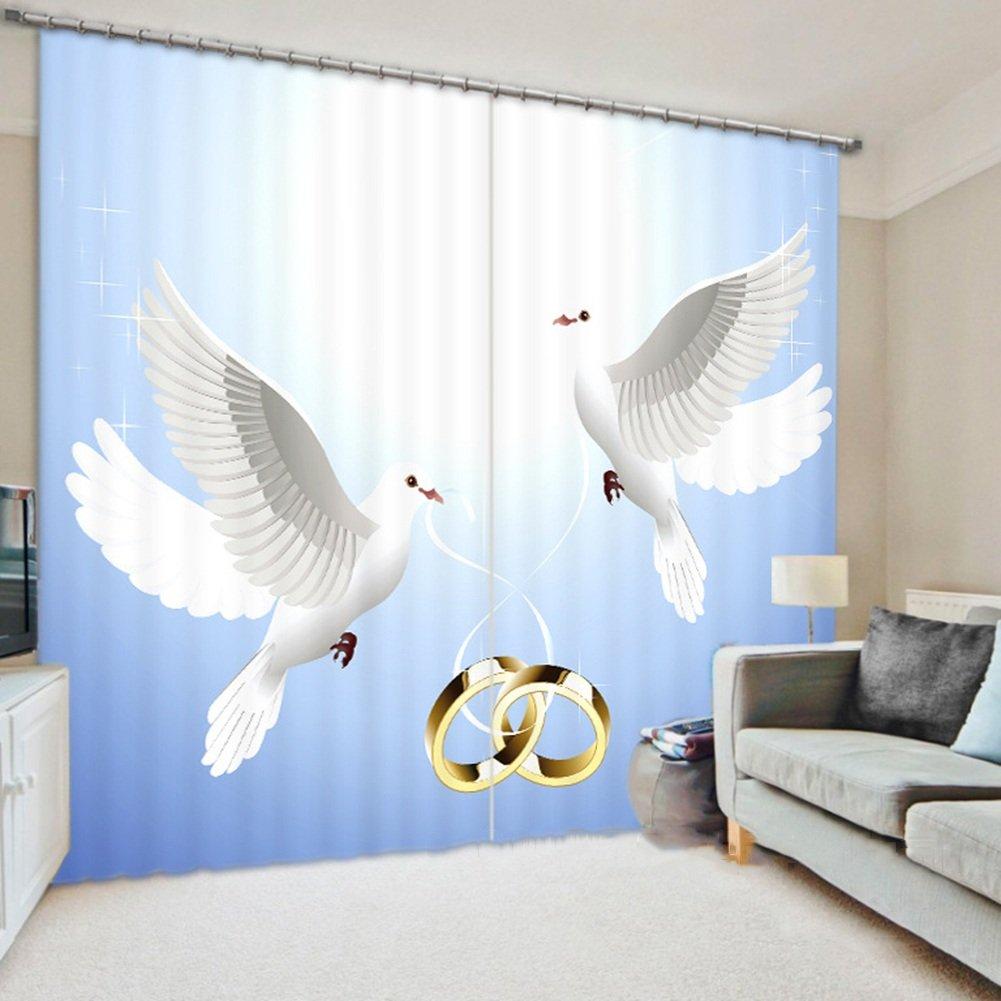 QIANGDA カーテン 3Dカーテン ポリエステル ブラックアウトを暗くする ノイズ減少 断熱 窓処理 寝室2つのパネルのセット、 2つのスタイルオプション、 カスタマイズされたサイズ ( 色 : 1# , サイズ さいず : W 3m x H 2.7m ) B078ZCR142 W 3m x H 2.7m|1# 1# W 3m x H 2.7m