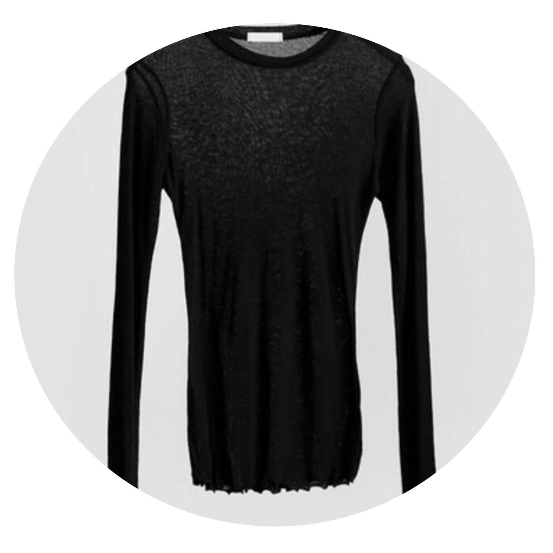 Icena dresses Slim Plain Cotton Elastic Basic T-Shirts Casual Long Sleeve Sexy Thin T-Shirt