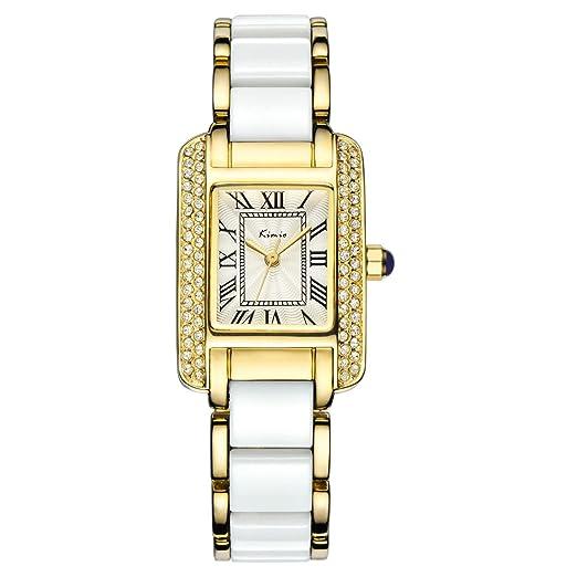 Wishar KIMIO lady de aleación de relojes cuarzo relojes moda simple elegante baile pulsera las mujeres relojes: Amazon.es: Relojes