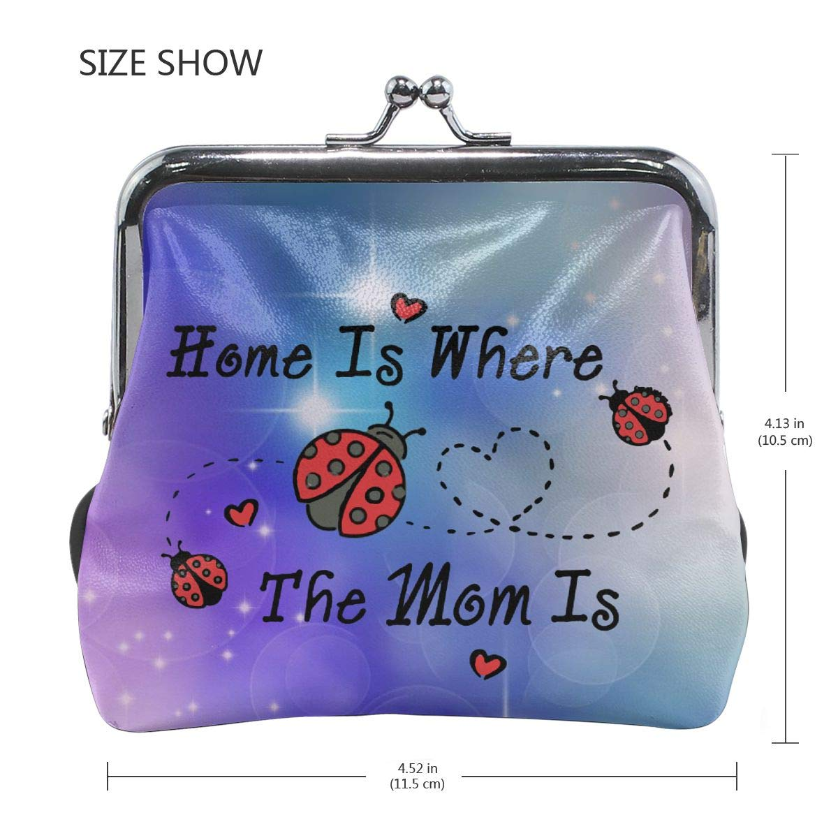 Home Is Where The Mom Is Cute Buckle Coin Purses Buckle Buckle Change Purse Wallets