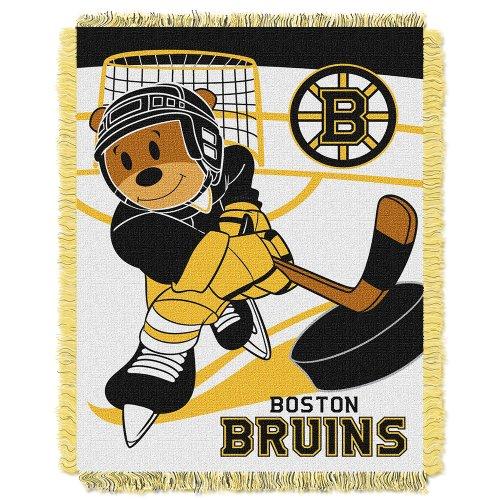 UPC 087918122499, NHL Boston Bruins Score Woven Jacquard Baby Throw Blanket, 36x46-Inch