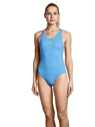 Sonderkauf modischer Stil auf Füßen Aufnahmen von AquaFeeL Damen Sport Training Badeanzug hellblau: Amazon.de ...