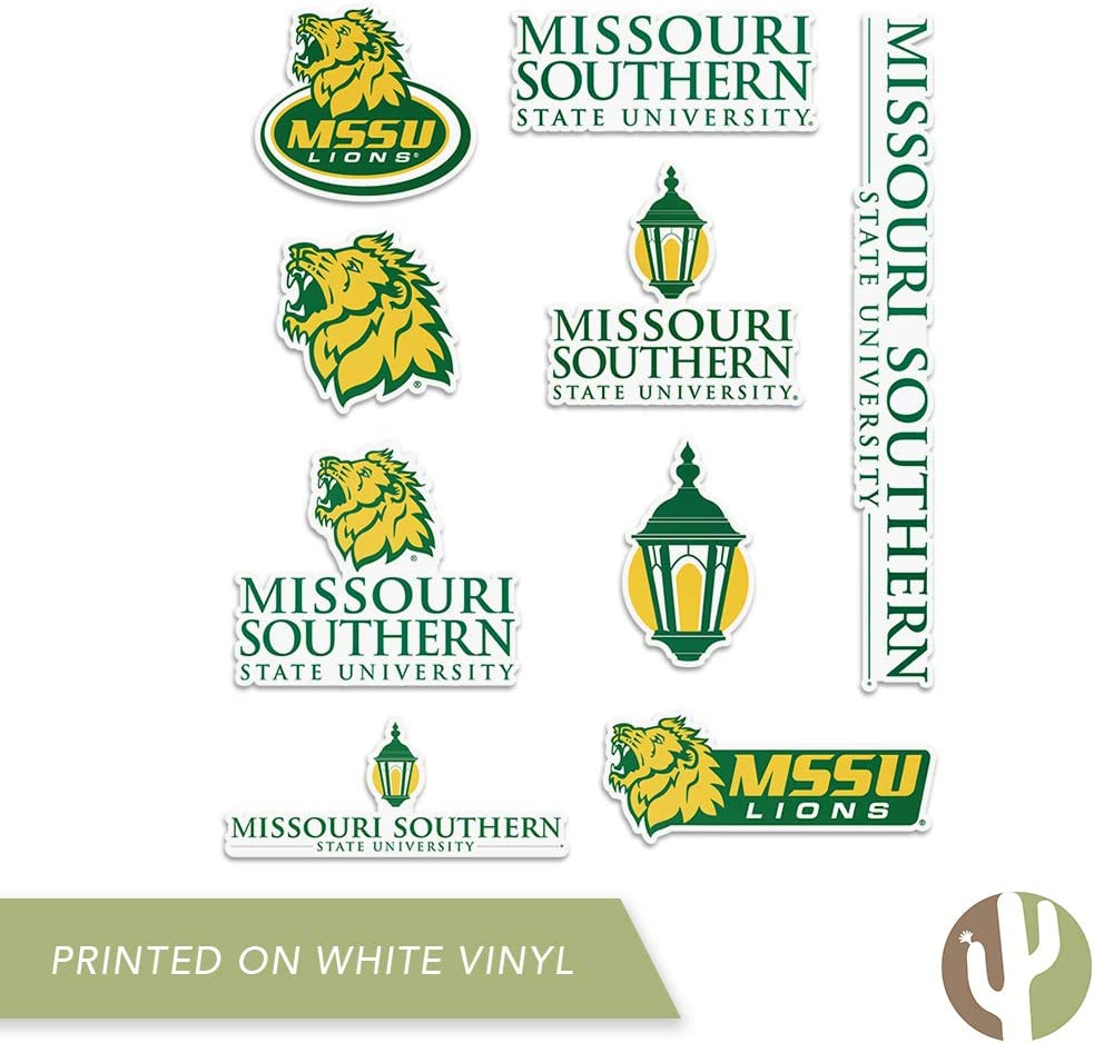 Type 2 Sheet Missouri Southern State University Lions NCAA Sticker Vinyl Decal Laptop Water Bottle Car Scrapbook