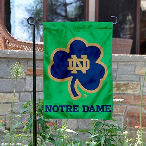 Notre Dame Shamrock Garden Flag (Border Notre Dame)