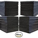 "48 Pack- Acoustic Panels Studio Soundproofing Foam Wedges 1"" X 12"" X 12"""