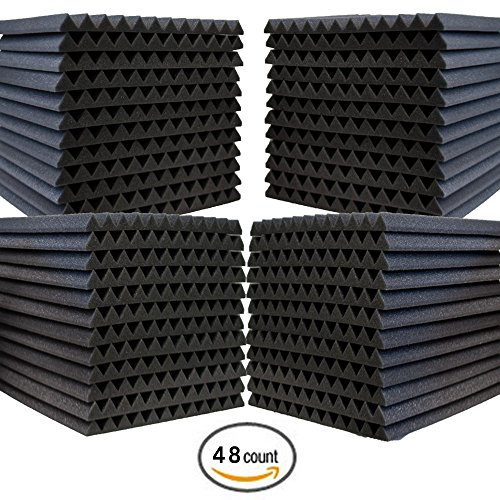 48-pack-acoustic-panels-studio-foam-wedges-1-x-12-x-12