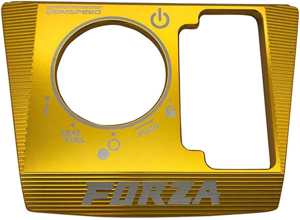 Cubierta de Interruptor de Bloqueo el/éctrico LongGreat Marco de Cubierta de Tapa de Bloqueo de Llave de Encendido de Motocicleta para Honda Forza300 125 250 2018-2020