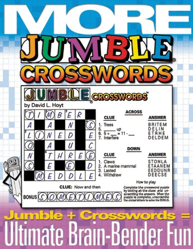 Jumble Crossword Puzzles (More Jumble Crosswords: Jumble + Crosswords = Brain Bender Fun)