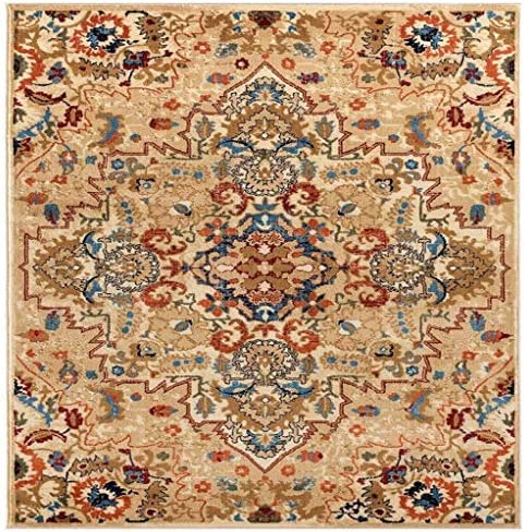 Luxe Weavers Howell Collection Oriental 8×10 Cream Area Rug