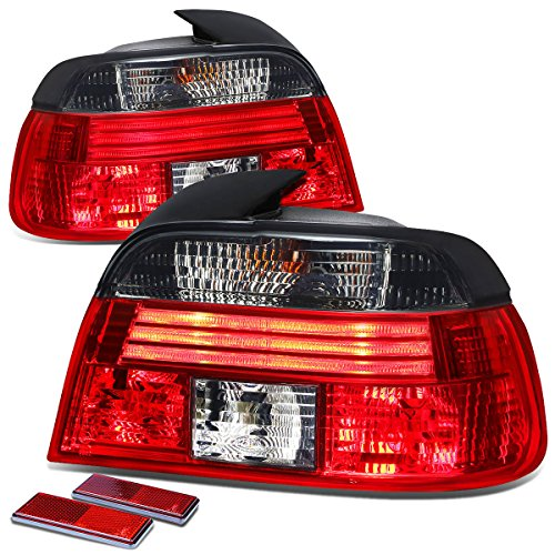 DNA Motoring TL-E3996-RD-SM TLE3996RDSM Tail Light Assembly (Driver & Passenger Side) for BMW E39 5-Series 4dr