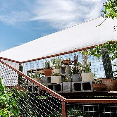 XLCZ Vela de Sombra Blanca / 80% Vela toldo protección UV/Tela de Sombra del Rectangular/tamaño Completo, para Cerca de jardín terraza de Patio Sombra Exterior: Amazon.es: Hogar