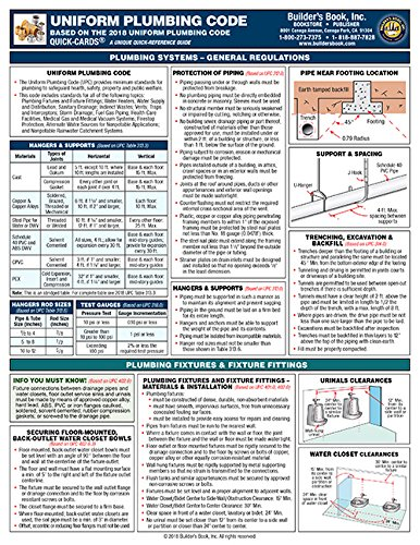 2018 Uniform Plumbing Code Quick-Card