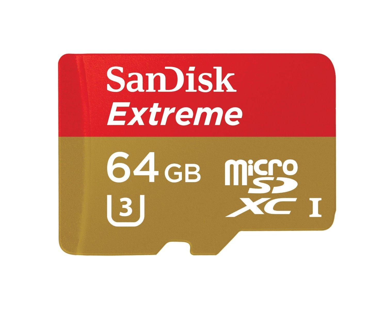 Sandisk Extreme MICROSDXC 64GB 90MB/S Flash Memory Card (SDSQXNE-064G-AN6MA)
