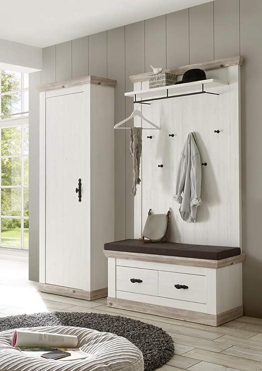 Beautyscouts Garderobe Garderobenset Kiruna Iii Pinie Weiß