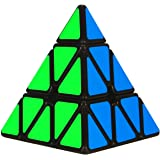 Aitey Pyramid Speed Cube Triangle Magic Cube Twisty Puzzle Christmas Gifts for Kids Black