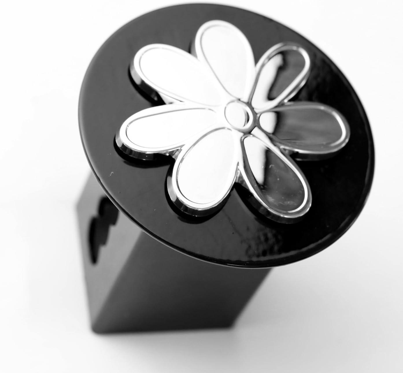 LFPartS Plumeria Flower 3D Emblem Metal Trailer Hitch Cover Fits 2 Receivers