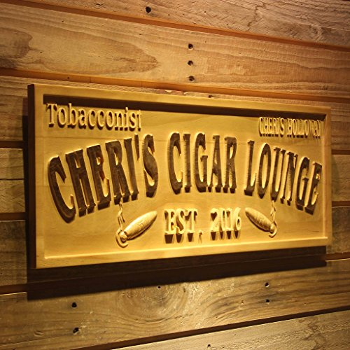 wpa0416 TOBACCONIST Name Personalized Cigar Lounge Shop Wood Engraved Wooden (Cigar Lounge)