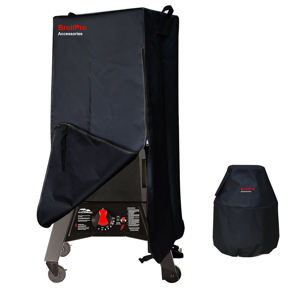 BroilPro Accessories Smoker Cover Fits Masterbuilt 20050716 Thermotemp Propane Smoker Including Tank Cover by BroilPro Accessories