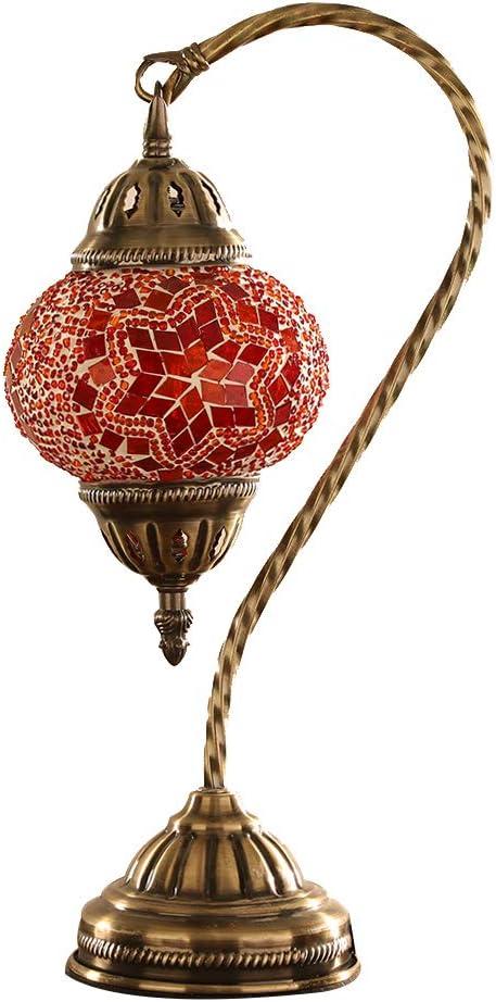 MX Lámpara de Mesa turca/Tiffany, lámpara de mesita de Noche de ...