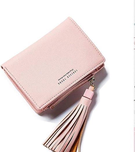 Porte-monnaie Femmes Fermeture à glissière bourse porte-monnaie portefeuille 4 couleurs métalliques