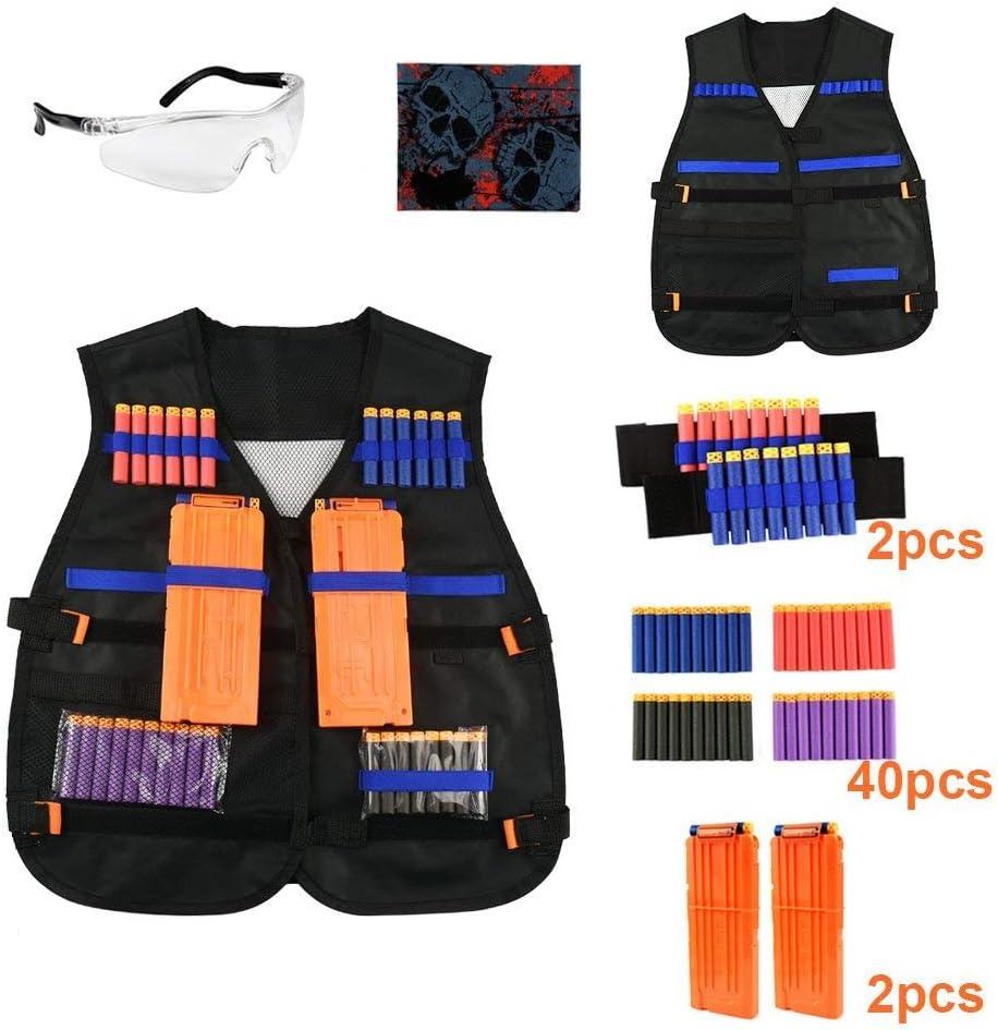 Esnow Kit de chaleco táctico para Nerf N-Strike Elite Series