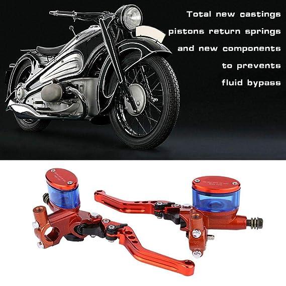 Qiilu 1 Par de Bomba de Freno CNC Refit Hidráulico Manillar Freno Cilindro Maestro para Dirt Pit Bike ATV Quad Scooter Motocicleta: Amazon.es: Coche y moto