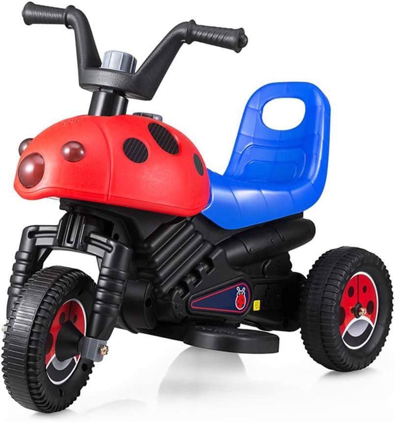 Triciclo Eléctrico para Niños Motocicleta Batería De Carga Motorcar Bebé Tres Ruedas Bicicleta Bicicleta Paseo En Autos para Niños Niños Niñas,Rojo