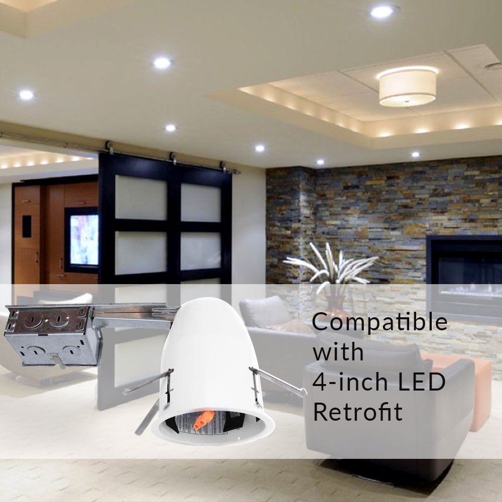 Sunco lighting 6 pack of 4 inch remodel led can air tight ic sunco lighting 6 pack of 4 inch remodel led can air tight ic housing led recessed lighting ul listed and title 24 certified amazon aloadofball Gallery