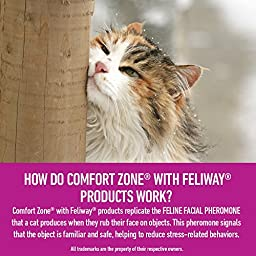 Comfort Zone Feliway Diffuser Refill, 2 Pack, For Cat Calming
