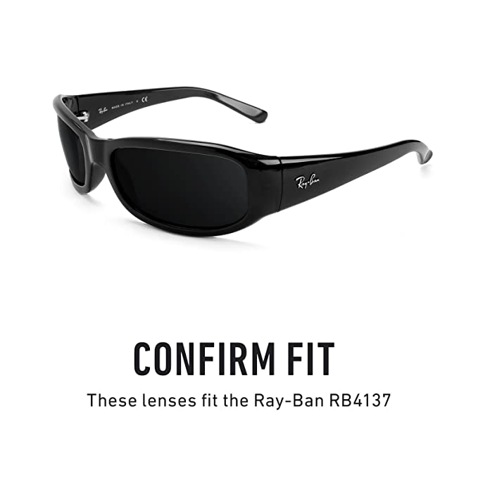 cd919075bc Revant Polarized Replacement Lenses for Ray-Ban RB4137 Elite Black Chrome  MirrorShield®  Amazon.co.uk  Clothing