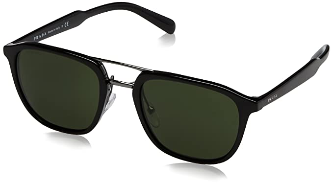 c579c56bc4 prada men s 0pr 12ts black green sunglasses  Amazon.in  Clothing ...
