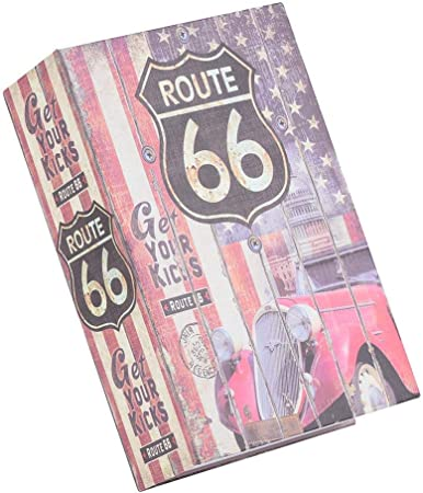 Caja de Seguridad, En Forma de Libro, para Guardar Dinero, Joyas, Regalos para Amigos, Familiares, Etc(Route 66): Amazon.es: Hogar