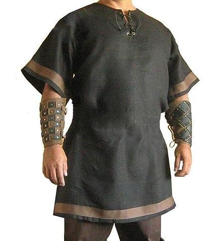 Túnica vikinga Medieval para Hombre Disfraz renacentista Camisa ...