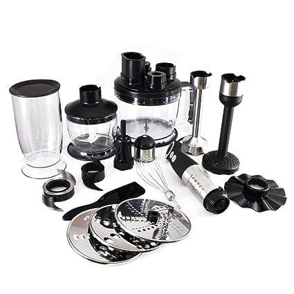 Nutrichef Food Processor Kitchen Kit - Stainless Steel Appliance with 800 Watt Power, Quiet Operation