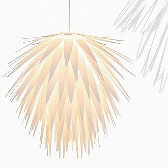 Hangeleuchte Mit Effektvollen Lampenschirm Stilisierte Blume Fur