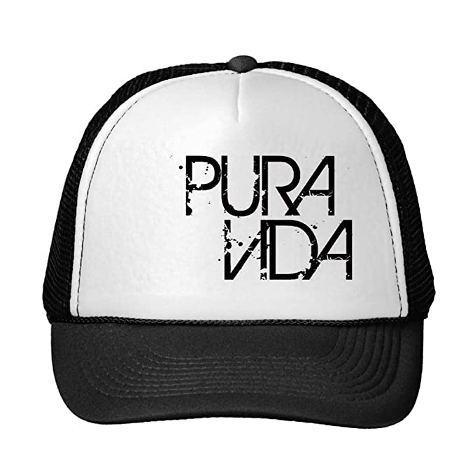 Image Unavailable. Image not available for. Color  Funny Red And Black Pura  Vida Trucker Hat 313ab31cb76