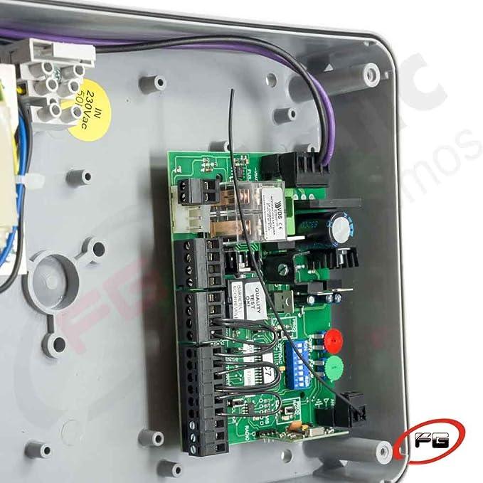 Placa de control EURO 24 M1 + Transformador + Caja estanca. 24 Vac. Cuadro de control para motores de corredera, basculantes contrapesadas y barreras entre otras aplicaciones.: Amazon.es: Bricolaje y herramientas