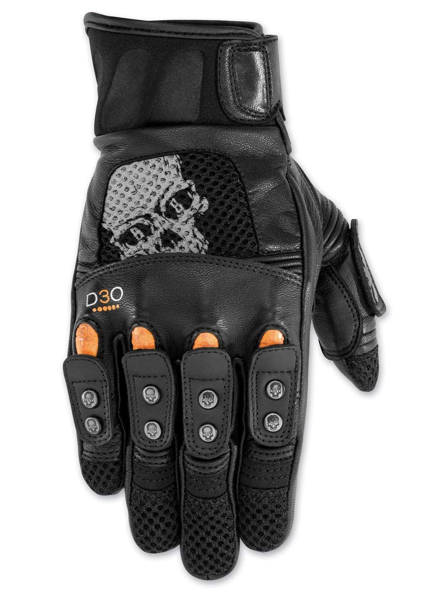 Black Brand Mirror Buster On-Road Motorcycle Gloves - Black / X-Large by BLACK BRAND (Image #1)