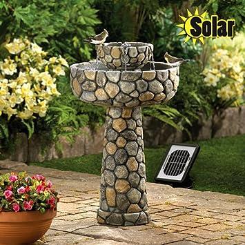 twotier cobblestone solar water fountain - Solar Water Fountain