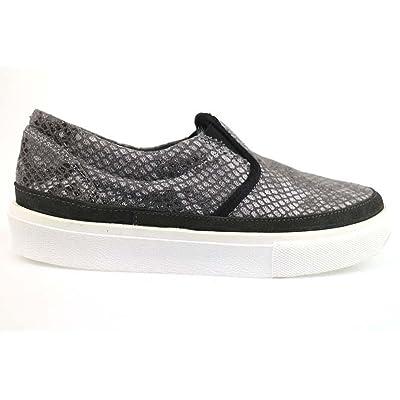 2 STAR Loafer / Moccasins Gray Textile Suede AP717 (10 US / 40 EU)