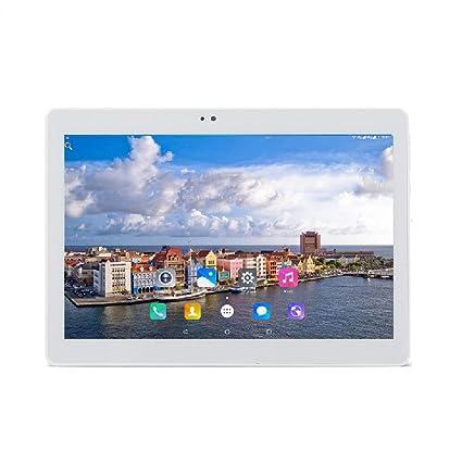 10.1 Pulgadas 1280x800 IPS Tablet PC 2G RAM 32G ROM Android 7.0OS MTK Quad Core CPU WiFi AGPS 3G Cellualr PC 2SIM Tarjetas - Plata