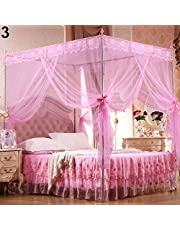 hudiemm0B Romantic Princess Lace Canopy Mosquito Net No Frame for Twin Full Queen King Bed