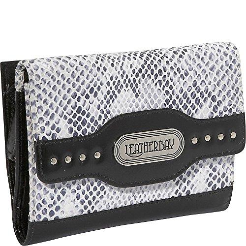 leatherbay-50137-walletblack-snake-printone-size